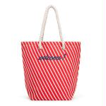 Stripe Cabana Tote - Red (Pack of 1)