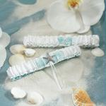 Seaside Allure Bridal Garter Set (Pack of 1)