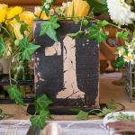 Rustic Self-Standing Table Number And Holders Numbers 7-12 (Pack of 6)