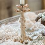Vintage Inspired Resin Taper Candle Holder (4) Ivory (Pack of 4)