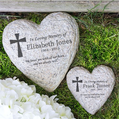 Sympathy Stones For The Garden Personalized memorial garden stone cross quick view workwithnaturefo