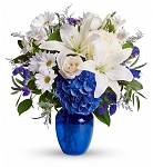 Flower Bouquet Beautiful in Blue