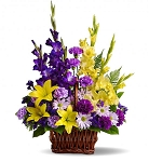 Elegant Flower Bouquet Basket of Memories