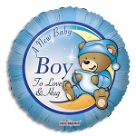 New Baby Boy Balloon Foil