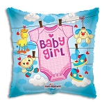 Baby Girl Clothes Balloon Foil
