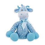 Jingles Giraffe Jungle Animals Stuffed Animal Plush Rattle Blue