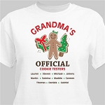 Personalized Christmas Tshirt Official Cookie Testers