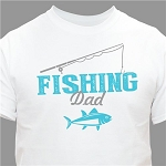 Personalized Fishing T-shirt Adult or Child Size