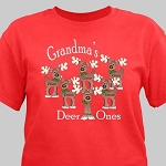 Personalized Christmas Tshirt Deer Ones Red or Green S M L XL 2XL 3XL