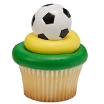 Soccer ball Cupcake Rings Cake Decorations