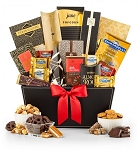 Elegant Gourmet Gift Basket Chocolates & Snacks