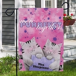 Personalized Couples Garden Flag Purrfect Together
