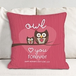 Personalized Owl Throw Pillow Owl Love you forever