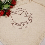 Personalized Memorial Afghan Throw Blanket In our Hearts Forever