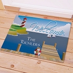 Personalized Doormat Lighthouse Lake House Welcome Mat