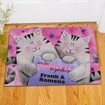 Personalized Couples Doormat Purrfect Together Cat Welcome Mat