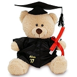Personalized Teddy Bear Plush Graduation Graduate Cap and Gown