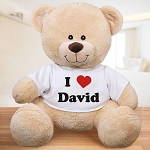 Personalized Teddy Bear Plush I Love You
