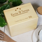 Personalized Couples Recipe Box Solid Maple Cookin Up Love