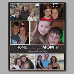 Personalized Wall Canvas Photo Collage Home is Where Your Mom is