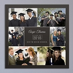 Personalized Graduation Wall Canvas Photo Collage Graduate
