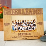 Personalized Cheerleading Frame Cheerleader Wood Photo Picture Frame