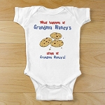 Personalized Creeper or T-Shirt Baby Clothing Cookies at Grandma's House