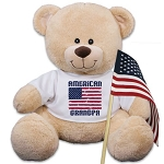 Personalized Teddy Bear Plush American Flag