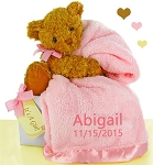 Pretty in Pink Baby Girl Bear Essentials Gift Set