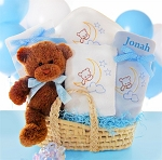 Baby Boy Moses Gift Basket Beary Special Arrival