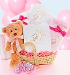 Baby Girl Moses Gift Basket Beary Special Arrival