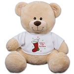 Personalized Teddy Bear Plush Baby's First Christmas