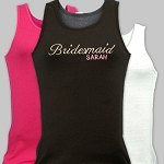 Personalized Bridal Party Tank Top Wedding