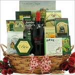 Valentines Day Golf & Wine Classic Gift Basket