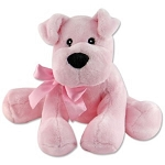 COMFIES™ Puppy Dog Plush Stuffed Animal Pink