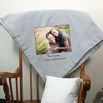 Personalized Photo Fleece Blanket Custom Message