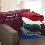 Personalized Fleece Blanket We Love You