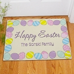Personalized Easter Eggs Doormat Welcome Mat