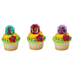 Disney Elena Cupcake Rings Cake Decorations