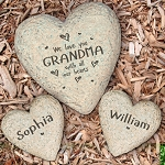 Personalized Family Heart Garden Stone