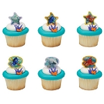 Nemo & Dory and Friends Cupcake Rings Cake Decorations