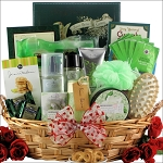 Valentines Day Gift Basket Bath & Body Gardenia Bouquet Spa Haven