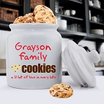 Personalized Family Cookie Jar 11 Choices