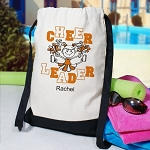 Cheerleader Drawstring Backpack Personalized