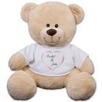 Personalized Plush Teddy Bear Couples Heart