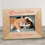 Personalized Pet Photo Frame Fur Babies Paw in Heart