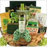 St Patricks Day Wine Gift Basket Irish Blessings