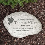 Personalized Memorial Garden Stone In Loving Memory Dove