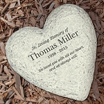 Personalized Memorial Garden Stone In Loving Memory Heart
