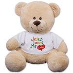 Personalized Teddy Bear Plush Jesus Love Me